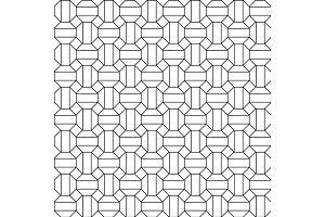 Honeycomb seamless hexagons pattern