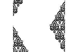 Ornamental floral element pattern