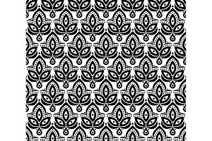 Ornamental seamless floral element
