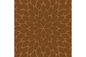 Vector round pattern with leaves