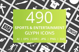 490 Sport & Entertainment Glyph Icon