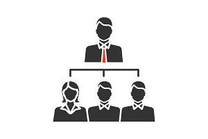 Leadership glyph icon