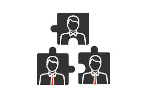 Teamwork glyph icon