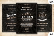 Vintage Retro Flyer Template Vol.6