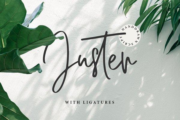 Script Fonts - JUSTER SCRIPT