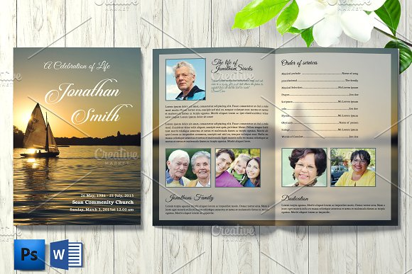 funeral brochure template v16 brochure templates creative market