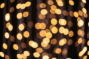 abstract shining golden bokeh backgr