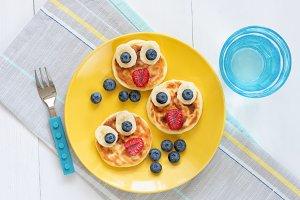 Breakfast pancakes for kids