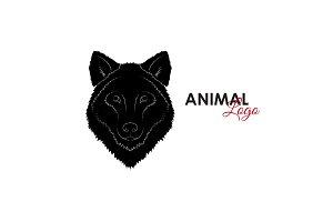 Head wolf icon logo symbol vector
