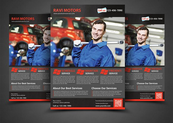 auto repair flyer template flyer templates creative market