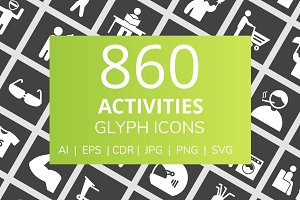 860 Activities Glyph Inverted Icons
