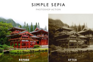 Simple Sepia - Photoshop Action