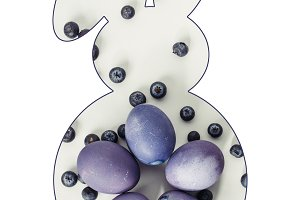 easter bunny symbol with painted egg