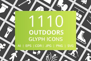 1110 Outdoors Glyph Inverted Icons