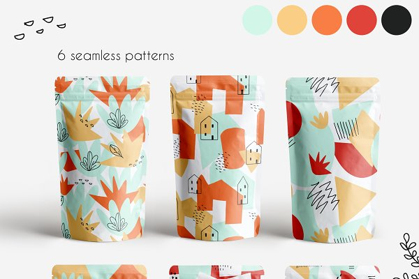 Patterns: Cozy little shop - Shape and contour collage maker