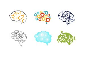 Human brain set, thinking or mind