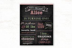 Printable Chalkboard Template
