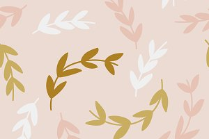 Simple pattern of branches on pink