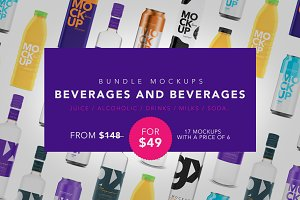 Bundle - Packaging Beverages Mockups