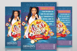 Lucky Draw Night Flyer
