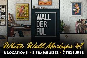 """Wallderful"" White Wall Mockups #1"