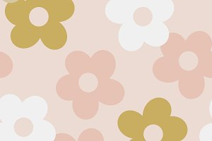 Seamless pattern of flower shapes