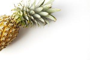 Pineapple fruit Against White Backgr