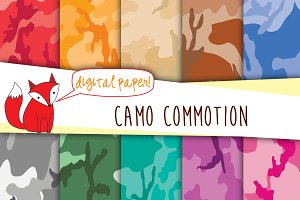 Camouflage Digital Papers