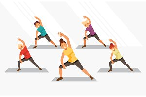 Kids fitness vector