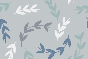 Simple pattern of branches on blue