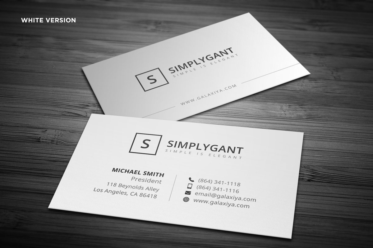 simple professional business cards  creative business