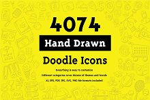 4074 Hand Drawn Doodle Icons