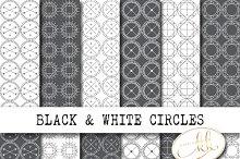 Black and White Circles Pattern