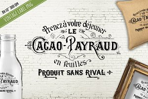 Antique French Cacoa Payraud Label