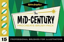 The Mid-Century Procreate Brush Pack by  in Brushes