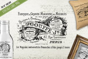 Old Antique French Gouffe Label