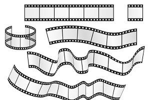 Vector film strip set