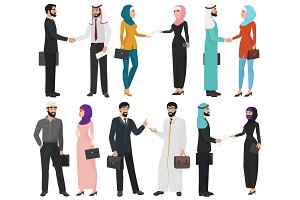 Muslim Arabic business people
