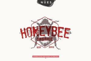Bee Honey Vintage Logo Logo Templates Creative Market