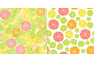 Citrus Lemon seamless pattern.