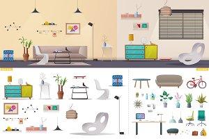 Living room. Design creator.