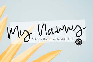My Nanny   Chic Script Font