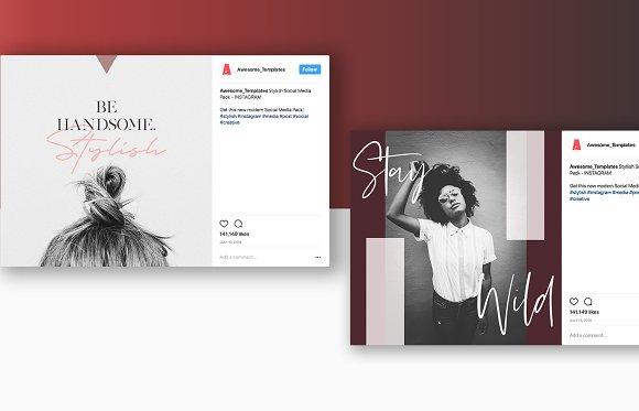 Stylish Social Media Pack  in Instagram Templates - product preview 5