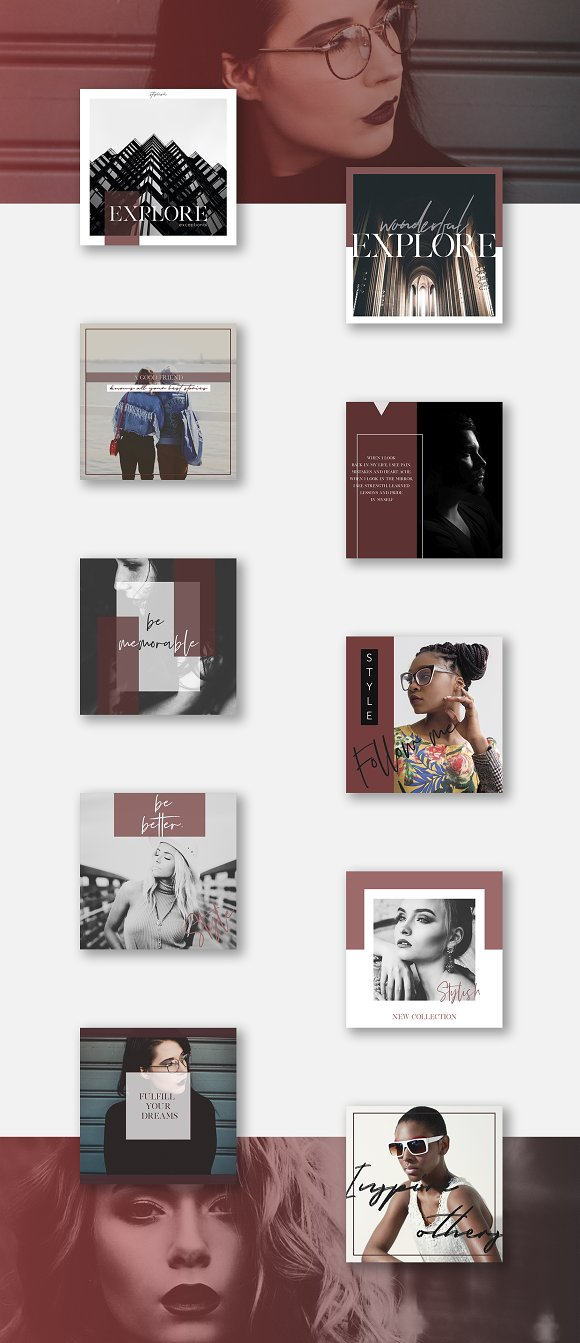 Stylish Social Media Pack  in Instagram Templates - product preview 7