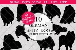 German Spitz Dog silhouette vector