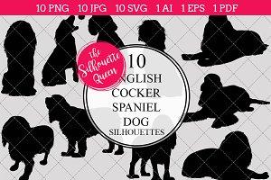Cocker Spaniel Dog silhouette