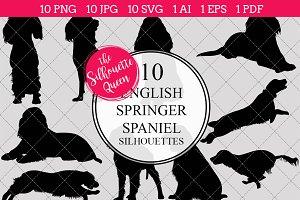 English Springer Spaniel silhouette