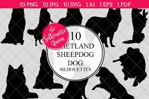 Shetland Sheepdog Dog silhouette