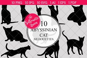 Abyssinian Cat silhouette vector