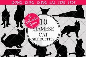 Siamese Cat silhouette vector